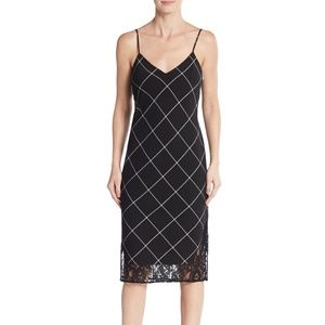 1. State Dresses - NORDSTROM|| Black 1. Windowpane plaid slip dress